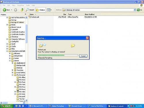 Cómo hacer copias de seguridad de todos los archivos de Microsoft Outlook
