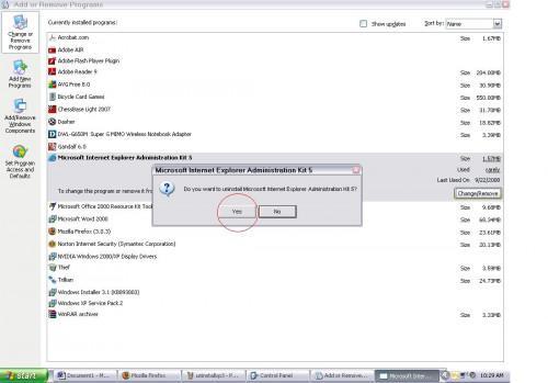 Cómo desinstalar programas en Windows XP
