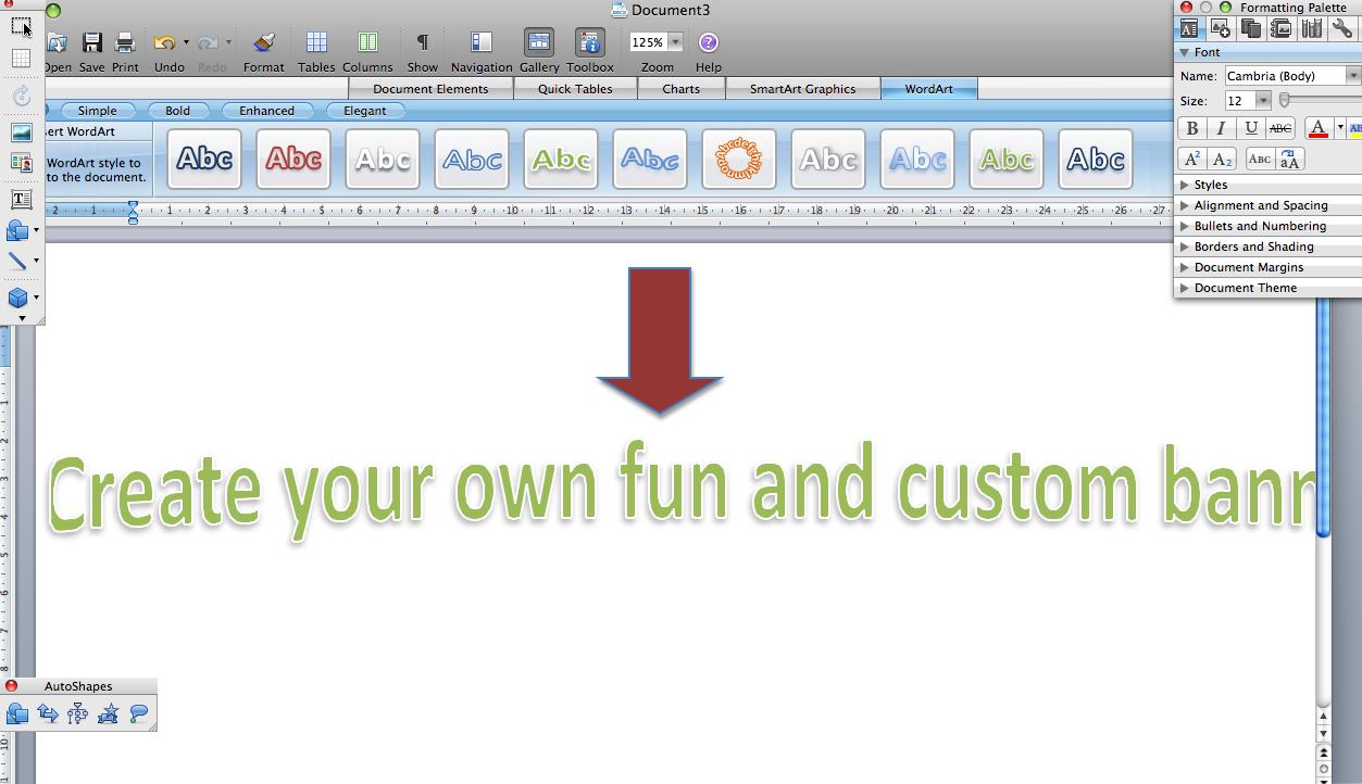 Cómo hacer un Banner en Microsoft Word 2007 - Seabrookewindows.com