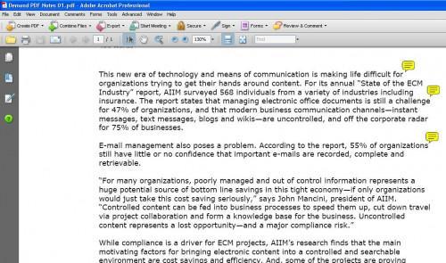 Cómo imprimir comentarios de nota en formato PDF