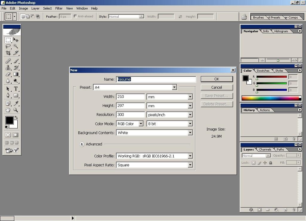 Cómo hacer un curriculum vitae en Adobe Photoshop - Seabrookewindows.com
