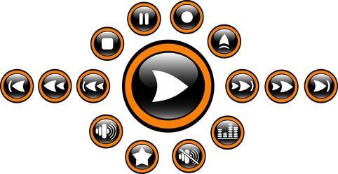 Reproductores de medios libres que juegan los medios de comunicación real