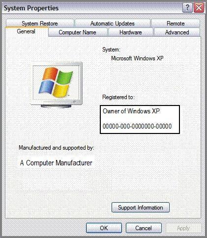 Cómo encontrar una clave de producto para Windows XP