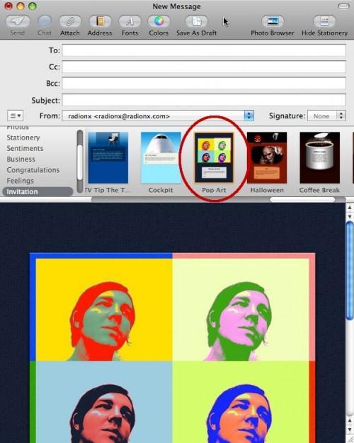 Como el uso estacionario en Mac OS X Mail