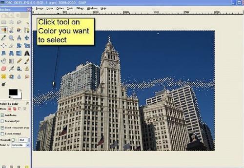 Cómo utilizar la herramienta de Selección por color en GIMP