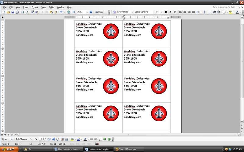 Cmo hacer tarjetas de presentacin con microsoft word cmo hacer tarjetas de presentacin con microsoft word reheart Gallery