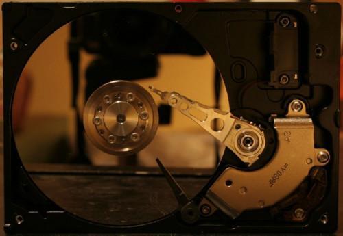 Partes internas de disco duro del ordenador
