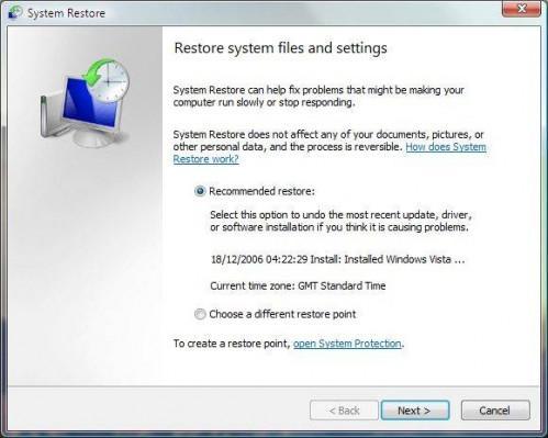 Cómo utilizar Restaurar sistema en una computadora portátil
