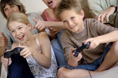Los efectos de los videojuegos sobre los niños parpadeantes un lote
