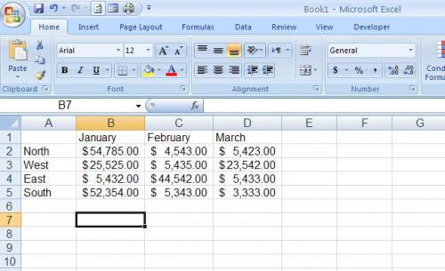 Cómo hacer líneas de división se imprimen en hojas de cálculo Microsoft Excel 2007