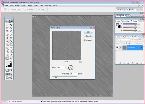 Cómo crear cortado con láser texto en Photoshop
