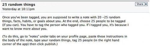 """Cómo escribir su Facebook """"25 cosas aleatorias sobre mí"""""""