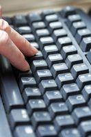Cómo practicar pulsar en un teclado de ordenador