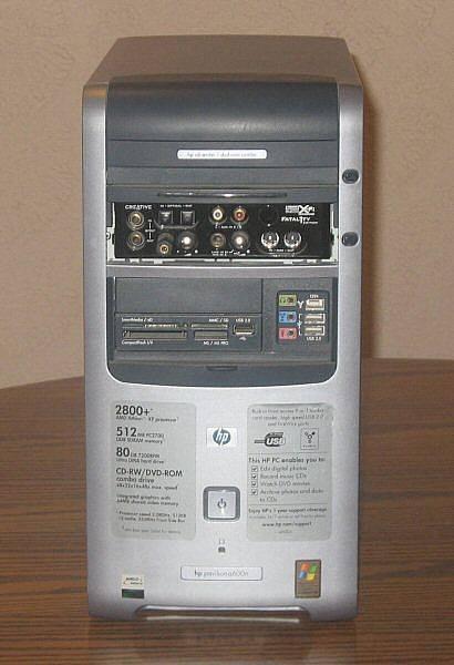 De escritorio HP Pavilion PC Información