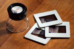 Usted puede escanear diapositivas y ponerlos en los discos?