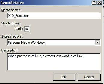Cómo crear una macro de Excel para una fórmula de uso frecuente