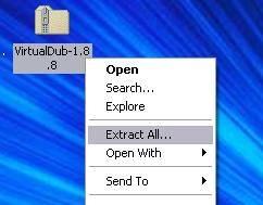 Cómo instalar VirtualDub