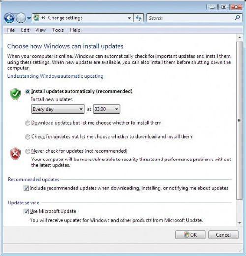 Cómo activar las actualizaciones de Windows Vista prendido y apagado automático