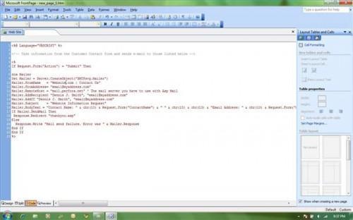 Cómo escribir un script en ASP
