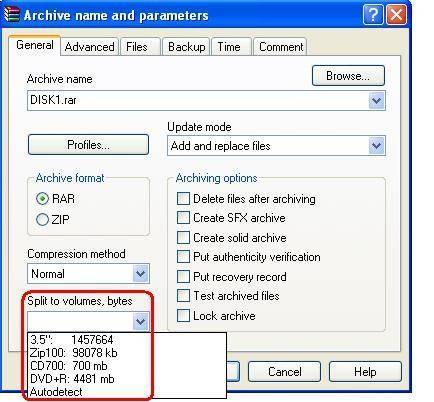 Cómo dividir un archivo ISO