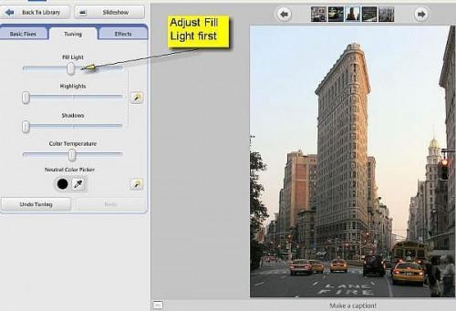 Cómo utilizar la corrección de luz de relleno en Picasa de Google