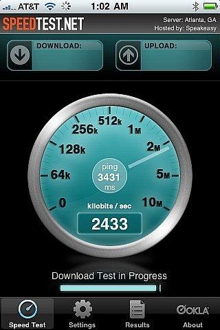Como prueba de la velocidad de una conexión a Internet desde un iPhone