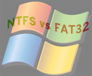 Vs. FAT32 NTFS Flash Drive